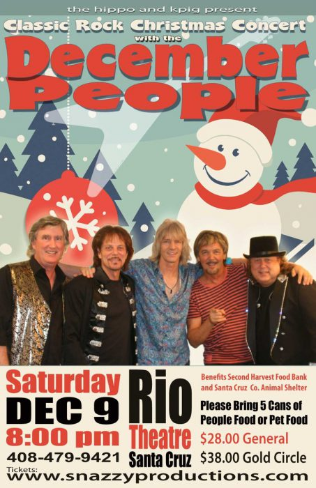 the hippo and k pig present a classic rock christmas show performed by december people december people plays familiar holiday songs in the styles of the - Classic Rock Christmas Songs