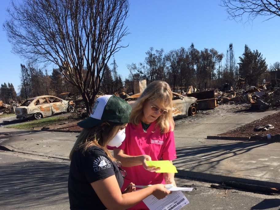 Yaseth in neighborhood destroyed by fire